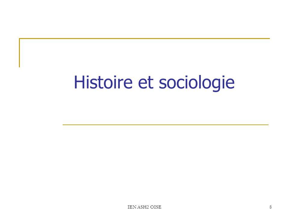 Histoire et sociologie
