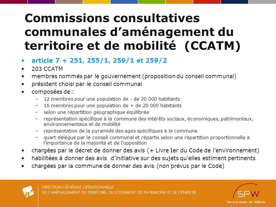 Commissions consultatives communales d'aménagement du territoire et de mobilité (CCATM)
