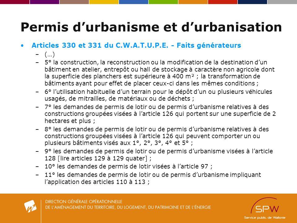 Permis d'urbanisme et d'urbanisation