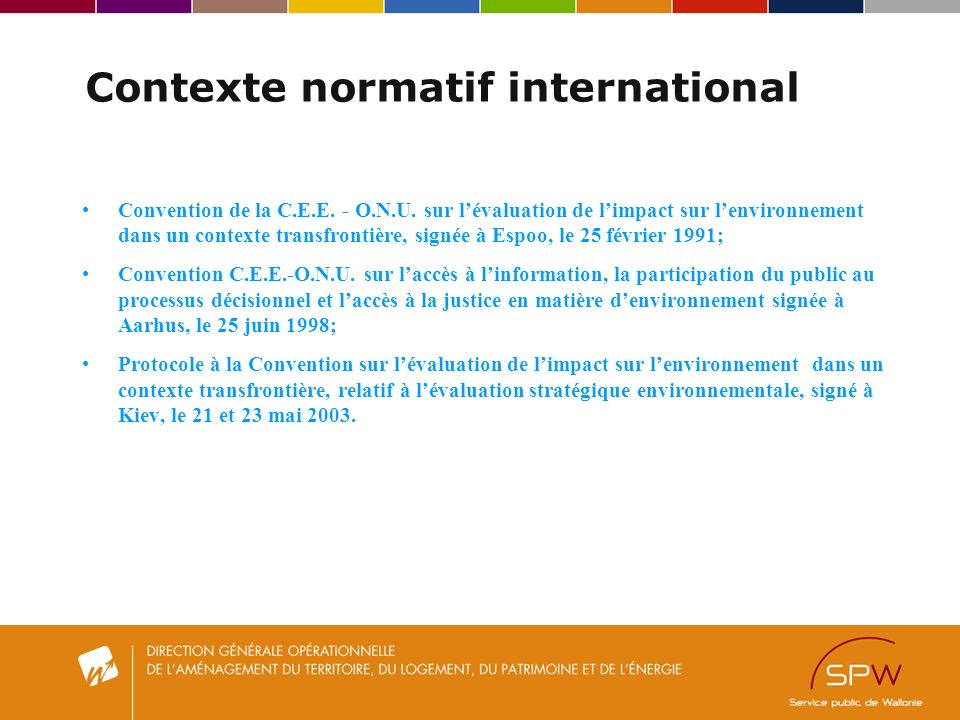 Contexte normatif international