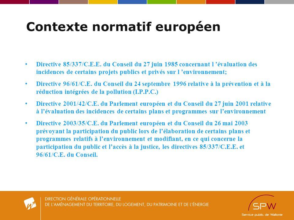 Contexte normatif européen