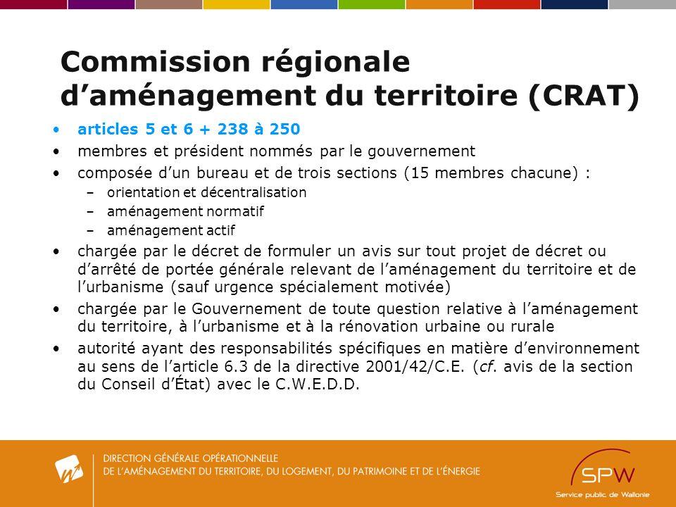 Commission régionale d'aménagement du territoire (CRAT)
