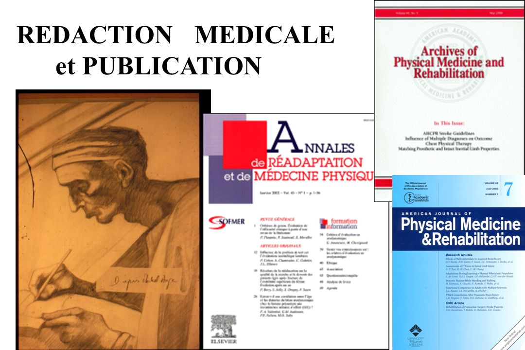 REDACTION MEDICALE et PUBLICATION Sofmer Lille 2003