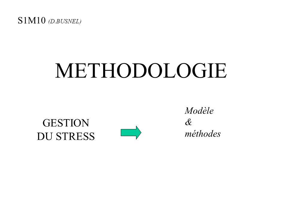 METHODOLOGIE GESTION DU STRESS S1M10 (D.BUSNEL) Modèle & méthodes