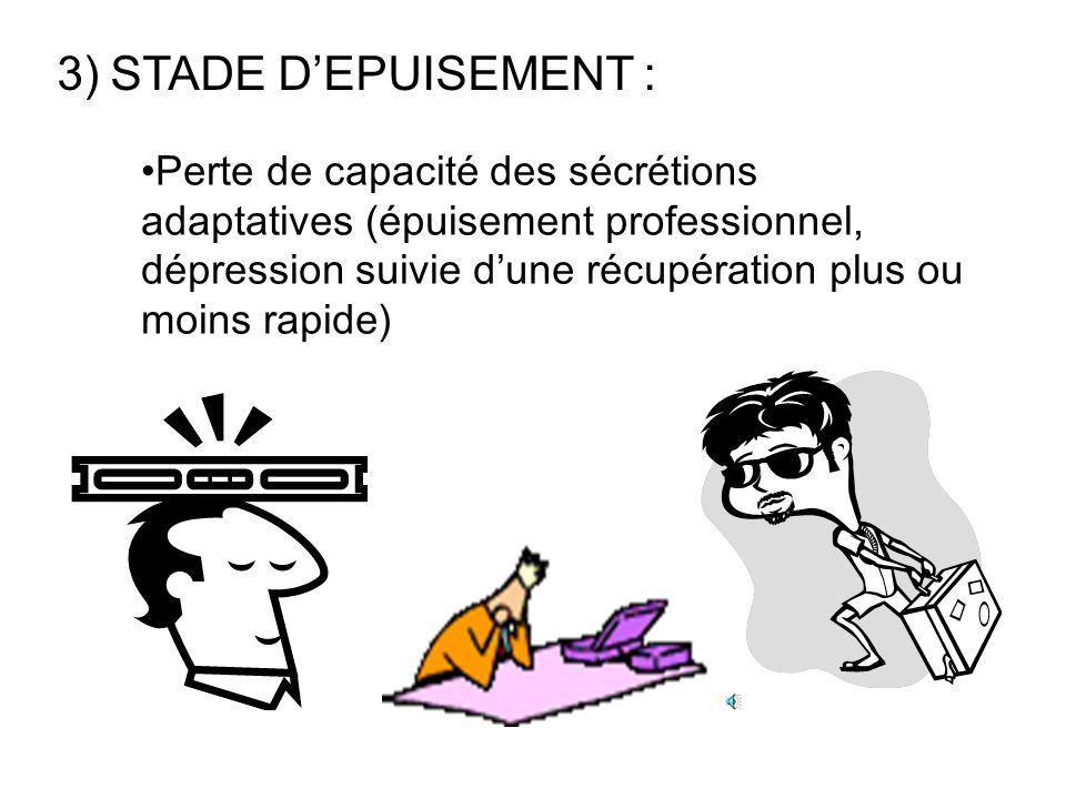 STADE D'EPUISEMENT :
