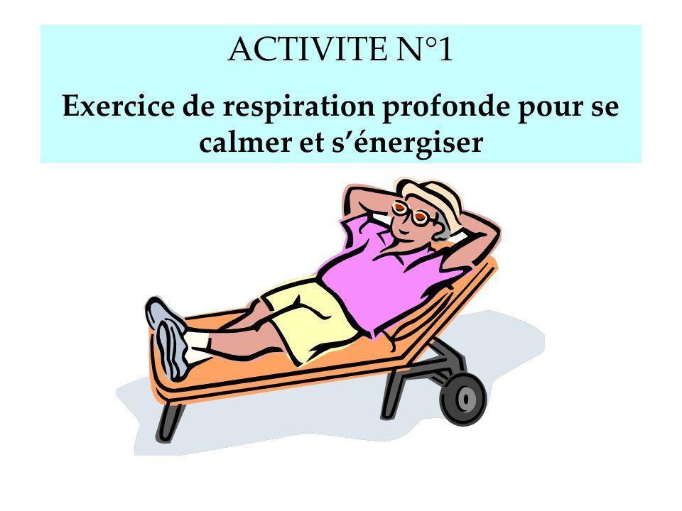Exercice de respiration profonde pour se calmer et s'énergiser