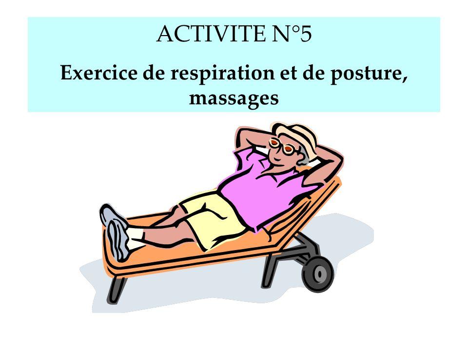 Exercice de respiration et de posture, massages