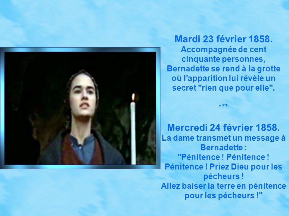 Mardi 23 février 1858. Mercredi 24 février 1858.