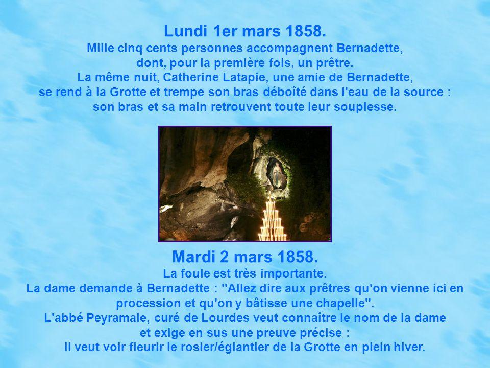 Lundi 1er mars 1858. Mardi 2 mars 1858.
