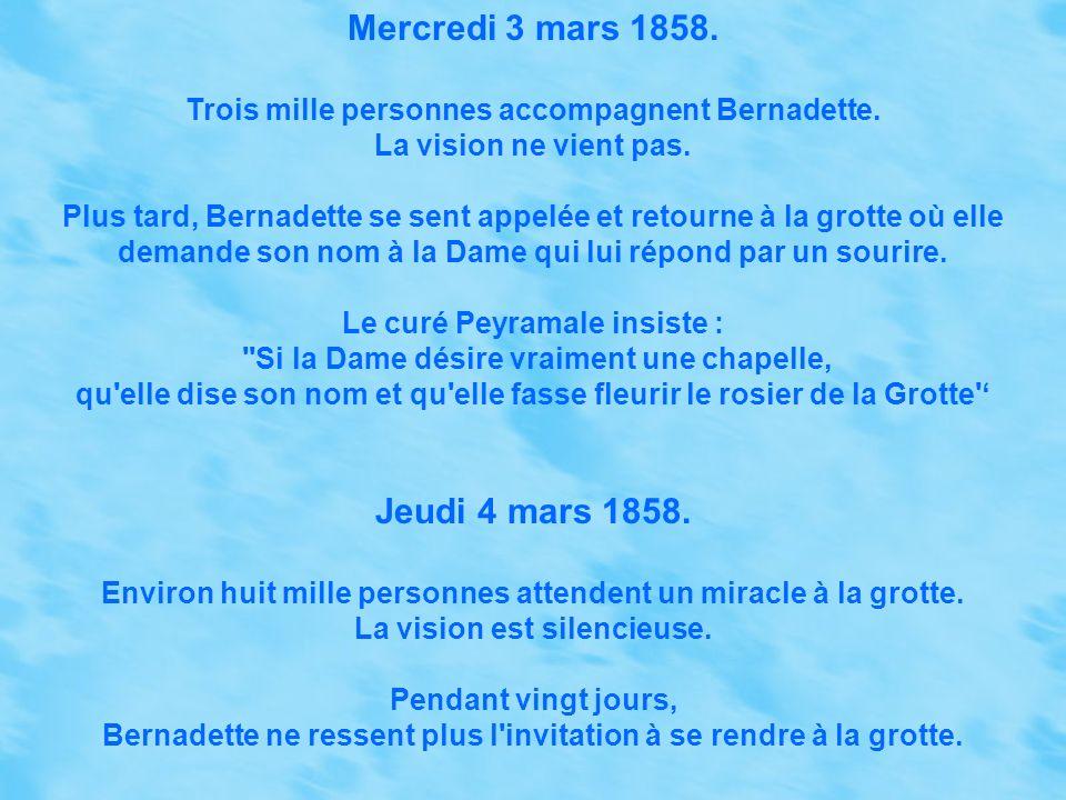 Mercredi 3 mars 1858. Jeudi 4 mars 1858.