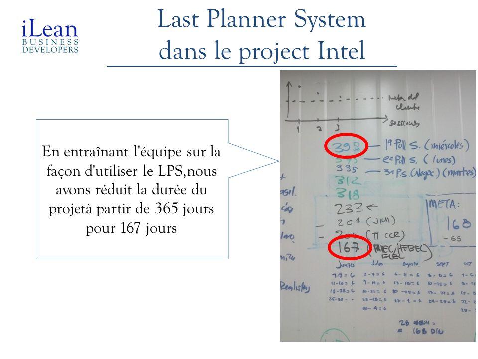 Last Planner System dans le project Intel