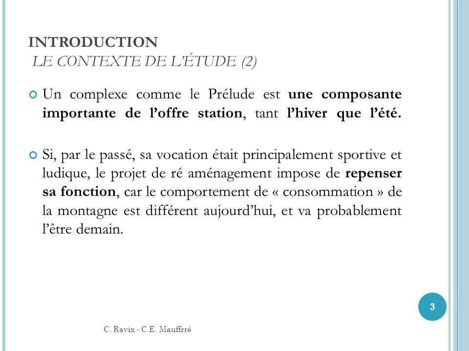 INTRODUCTION LE CONTEXTE DE L'ÉTUDE (2)