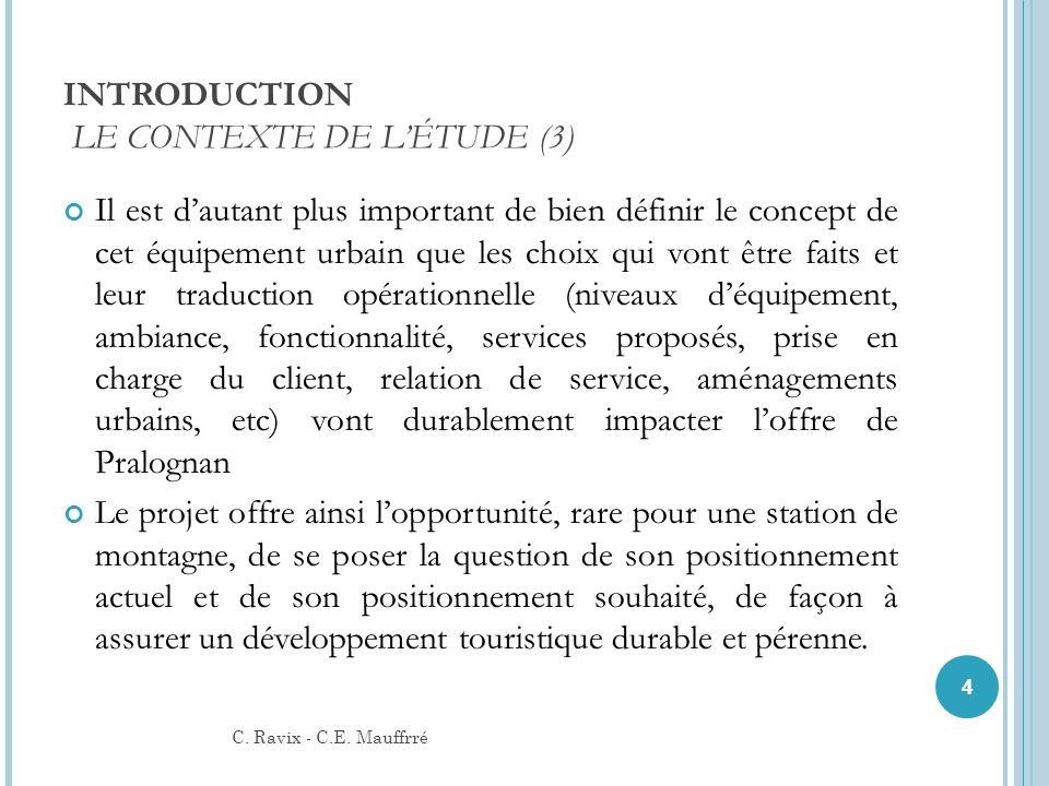 INTRODUCTION LE CONTEXTE DE L'ÉTUDE (3)