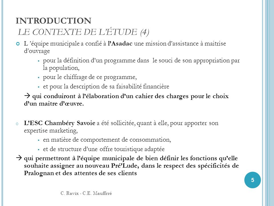 INTRODUCTION LE CONTEXTE DE L'ÉTUDE (4)