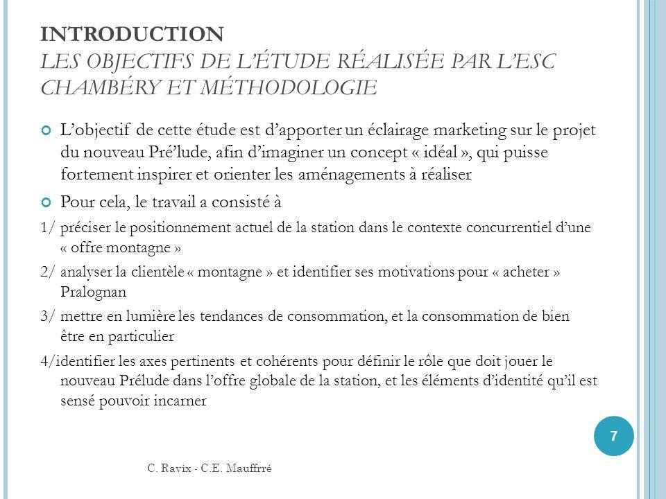 INTRODUCTION LES OBJECTIFS DE L'ÉTUDE RÉALISÉE PAR L'ESC CHAMBÉRY ET MÉTHODOLOGIE