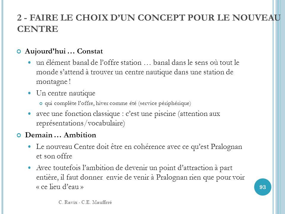 2 - FAIRE LE CHOIX D'UN CONCEPT POUR LE NOUVEAU CENTRE