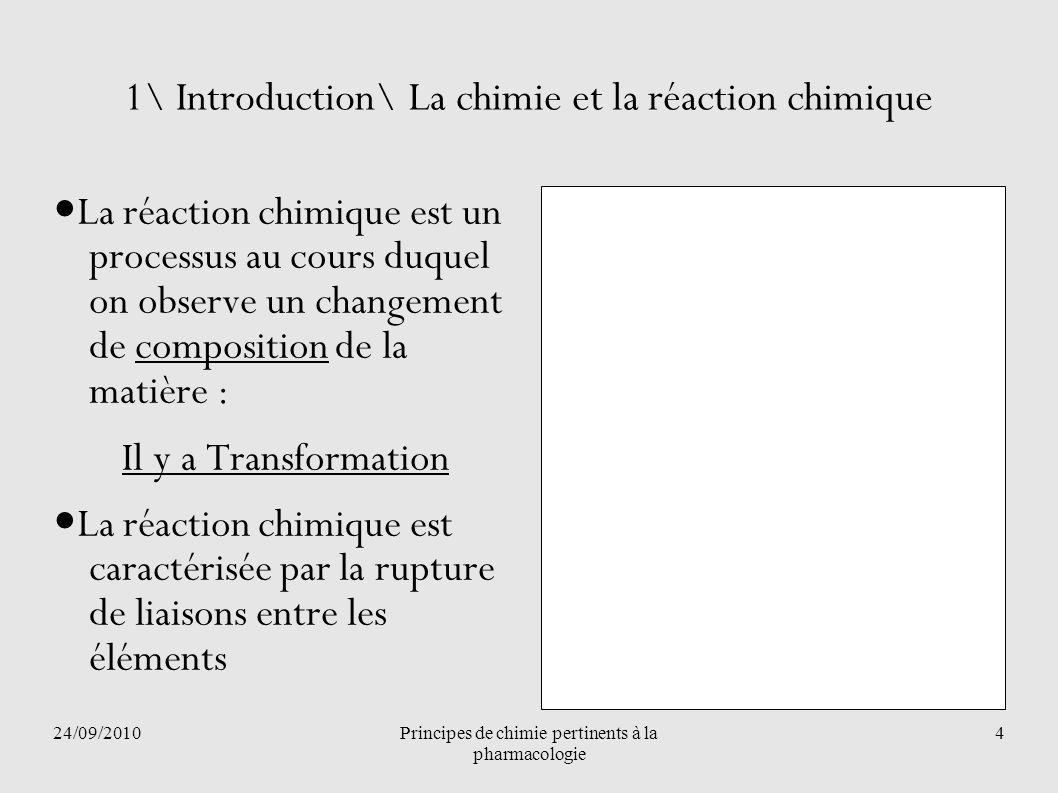 1\ Introduction\ La chimie et la réaction chimique