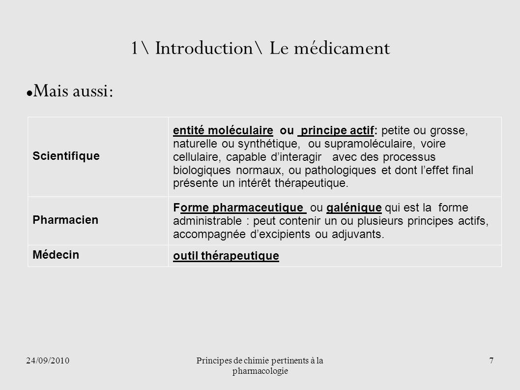 1\ Introduction\ Le médicament