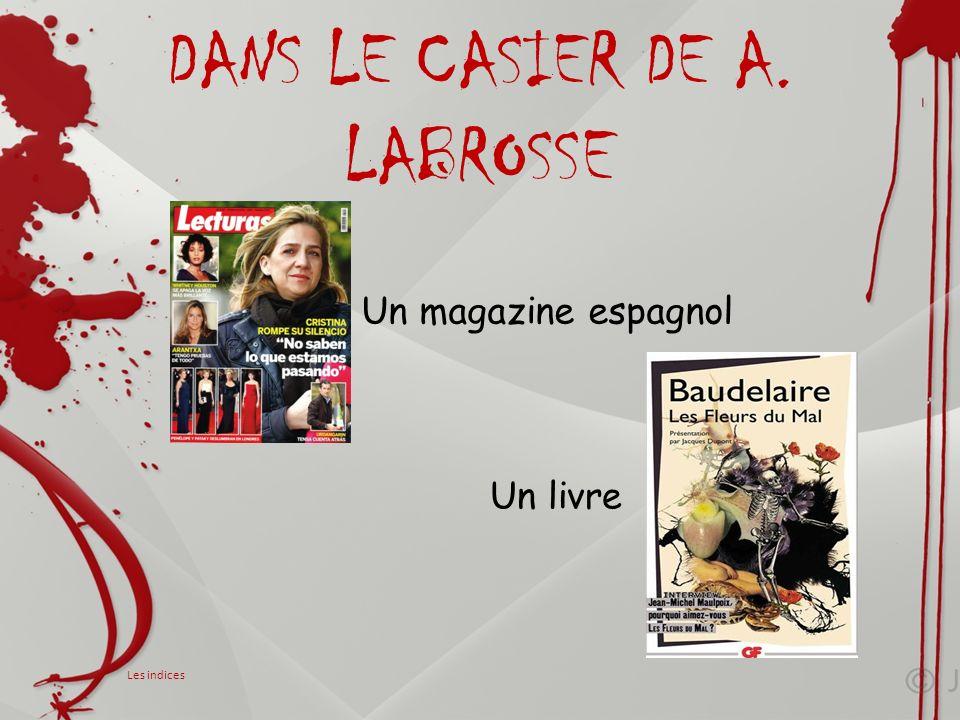 DANS LE CASIER DE A. LABROSSE