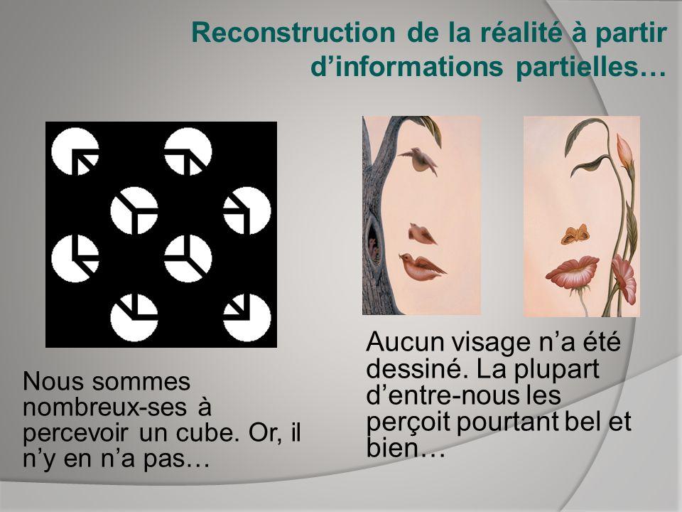 Reconstruction de la réalité à partir d'informations partielles…