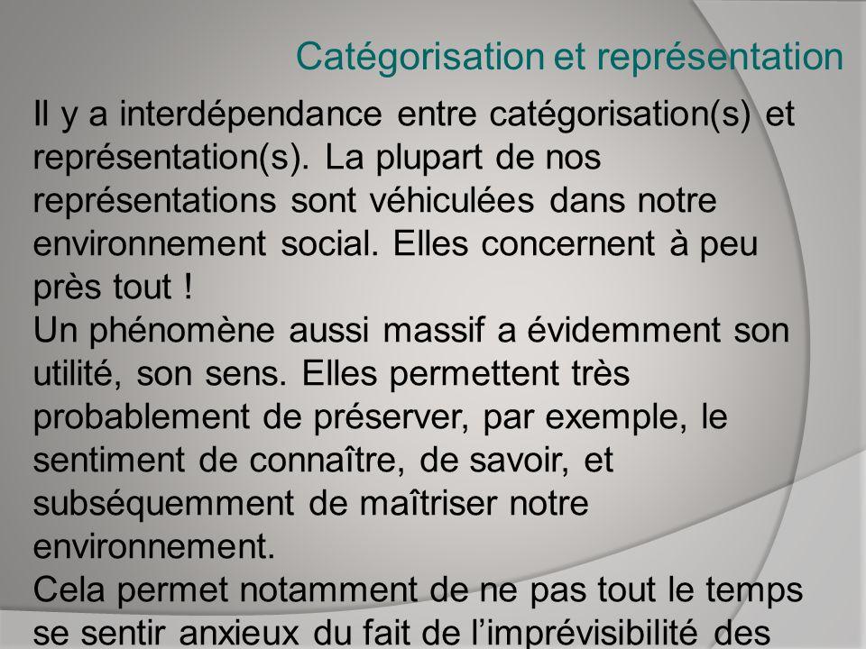Catégorisation et représentation