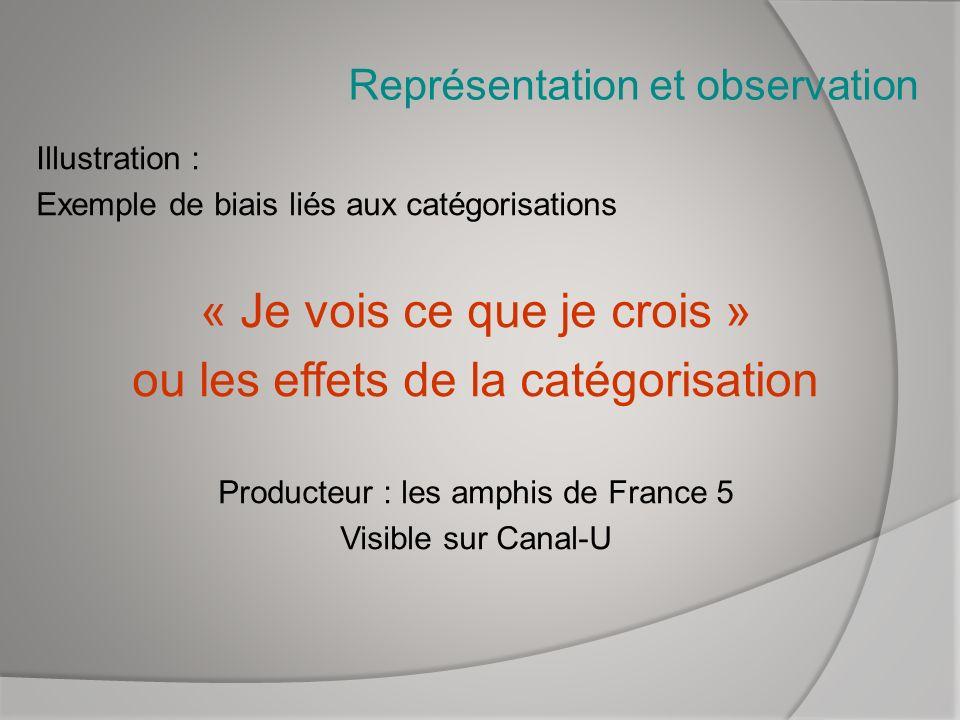 Représentation et observation
