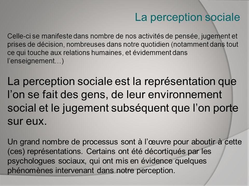 La perception sociale