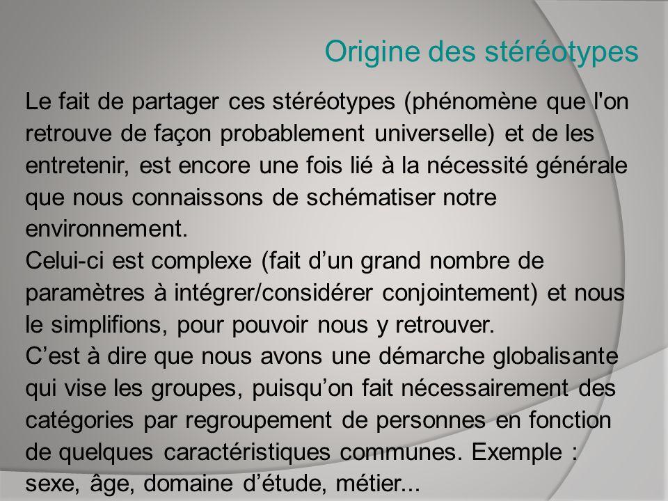 Origine des stéréotypes