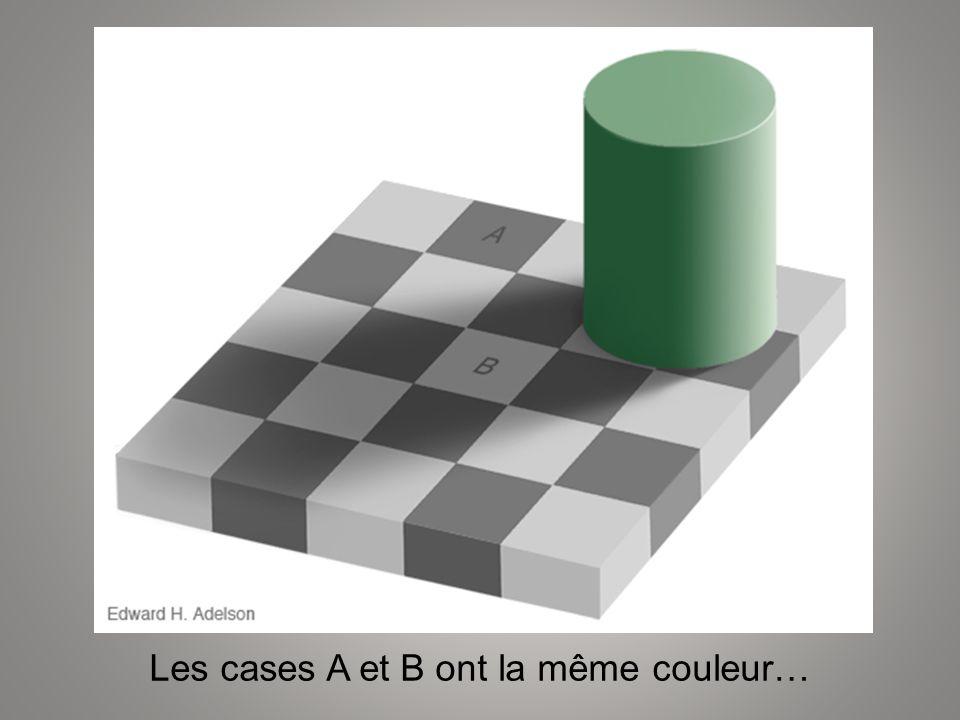 Les cases A et B ont la même couleur…