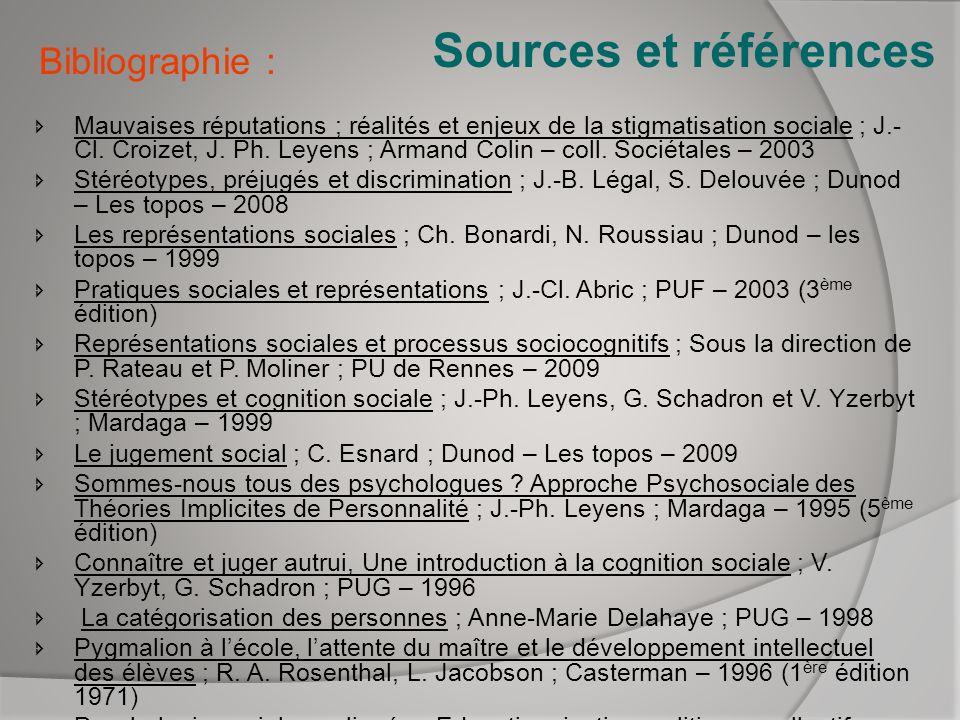 Sources et références Bibliographie :