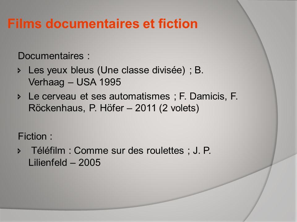 Films documentaires et fiction