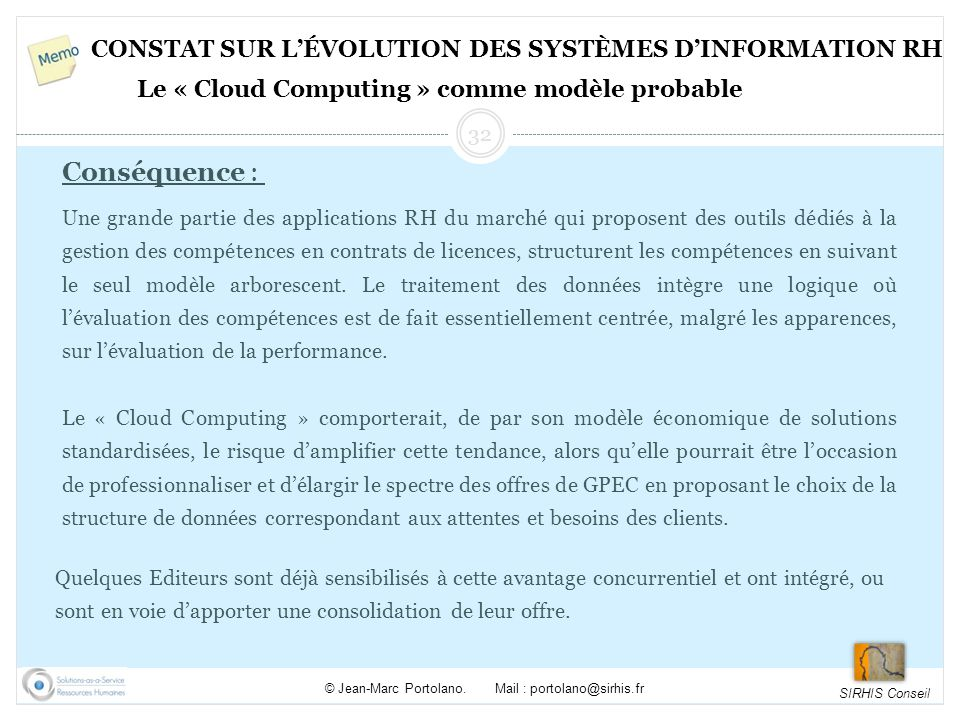 Constat sur l'évolution des systèmes d'information RH