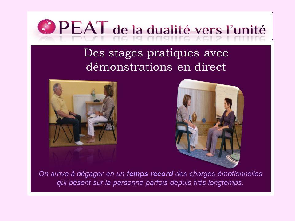 Des stages pratiques avec démonstrations en direct