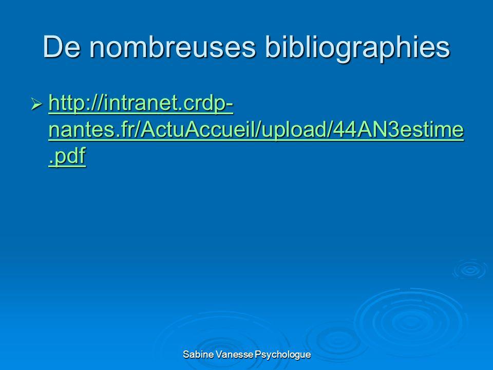De nombreuses bibliographies