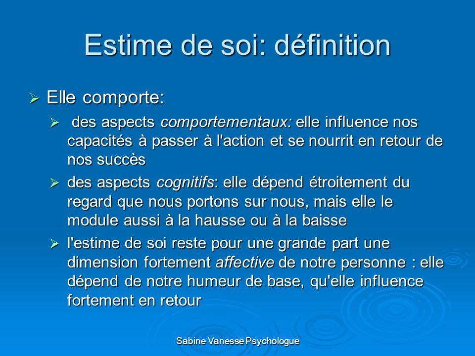 Estime de soi: définition
