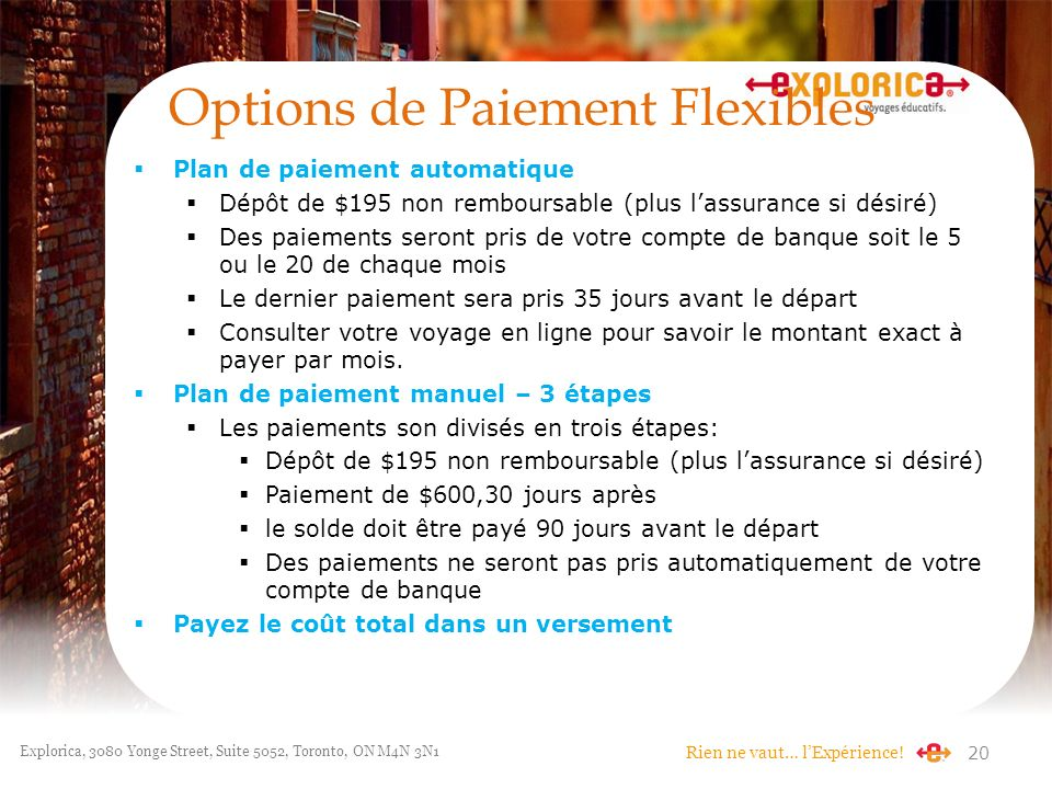 Options de Paiement Flexibles