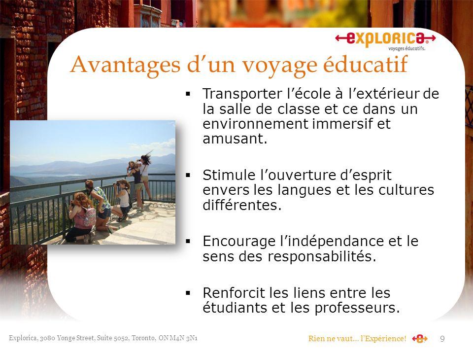 Avantages d'un voyage éducatif