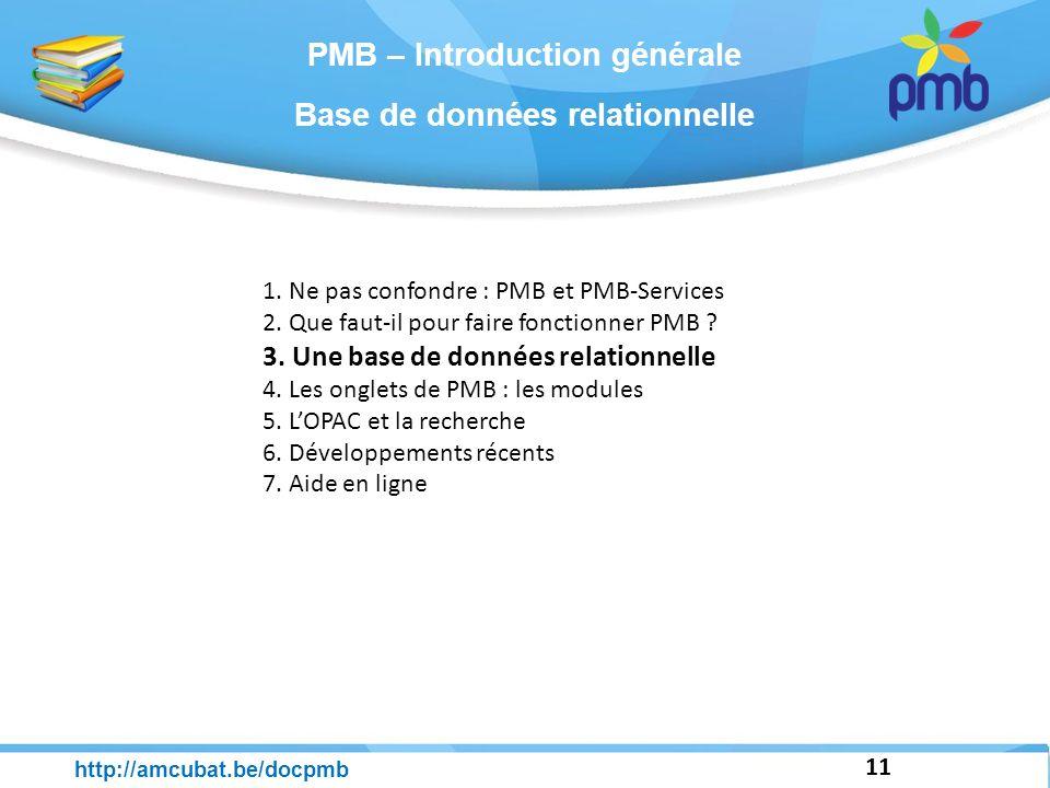 PMB – Introduction générale