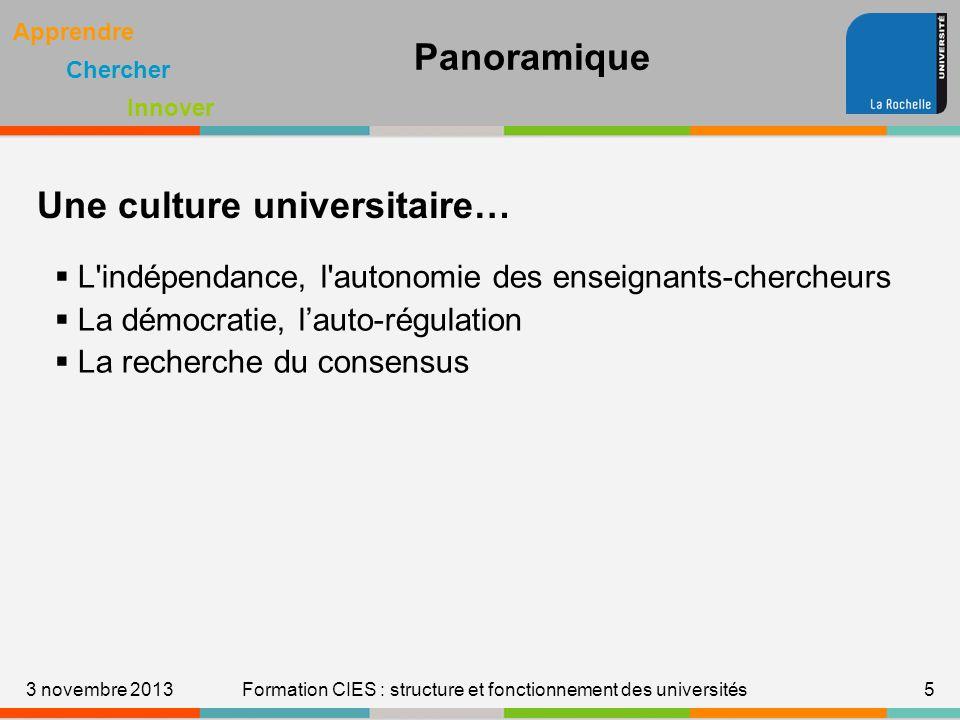 Formation CIES : structure et fonctionnement des universités