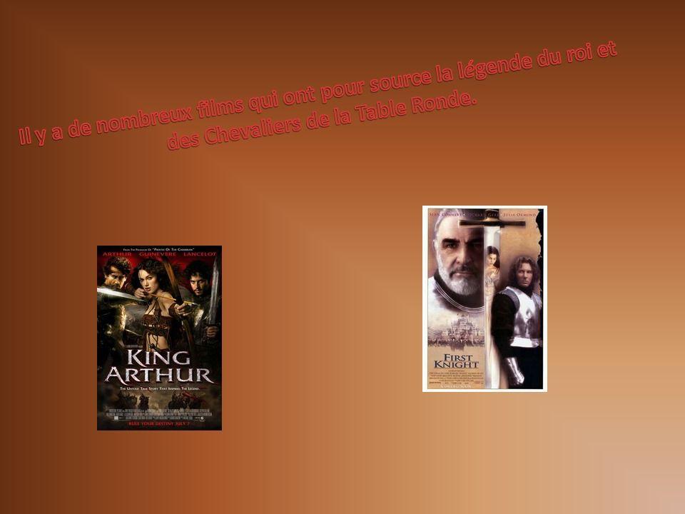 Il y a de nombreux films qui ont pour source la légende du roi et des Chevaliers de la Table Ronde.