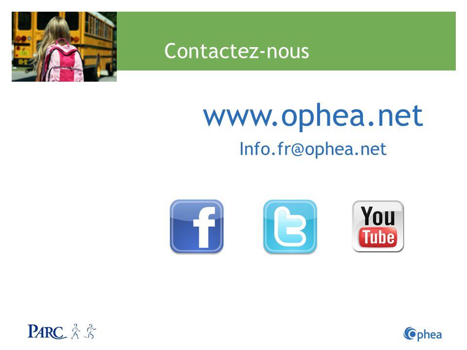 www.ophea.net Contactez-nous Info.fr@ophea.net