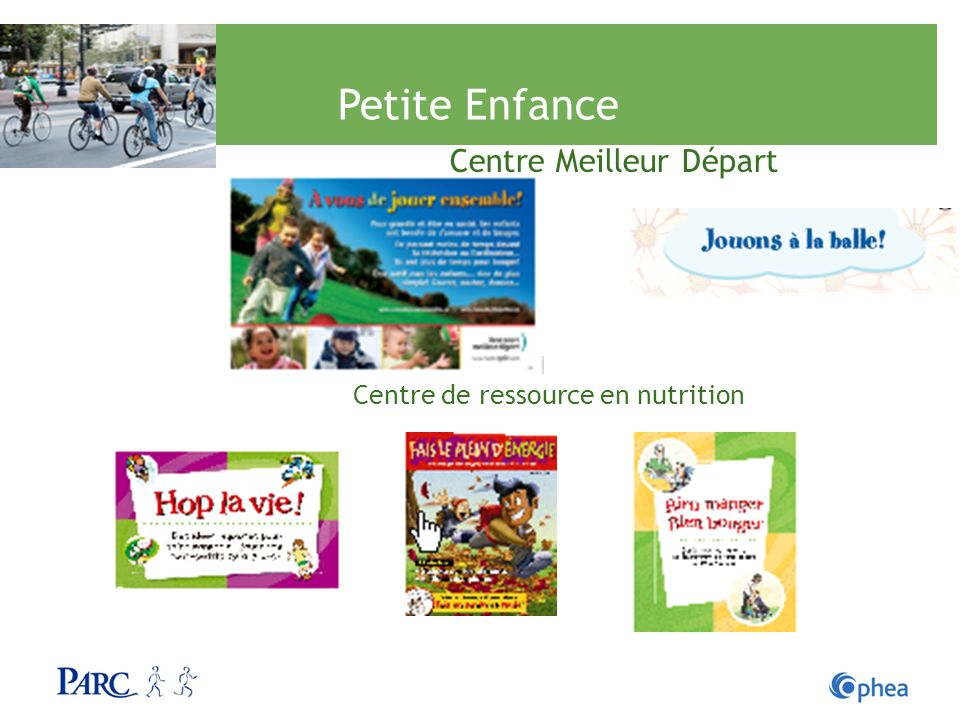 Petite Enfance Centre Meilleur Départ Centre de ressource en nutrition