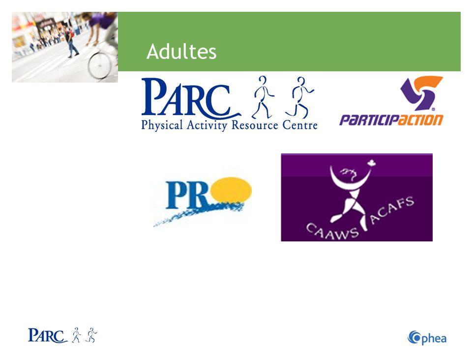 Adultes PPPRO ParticipAction: