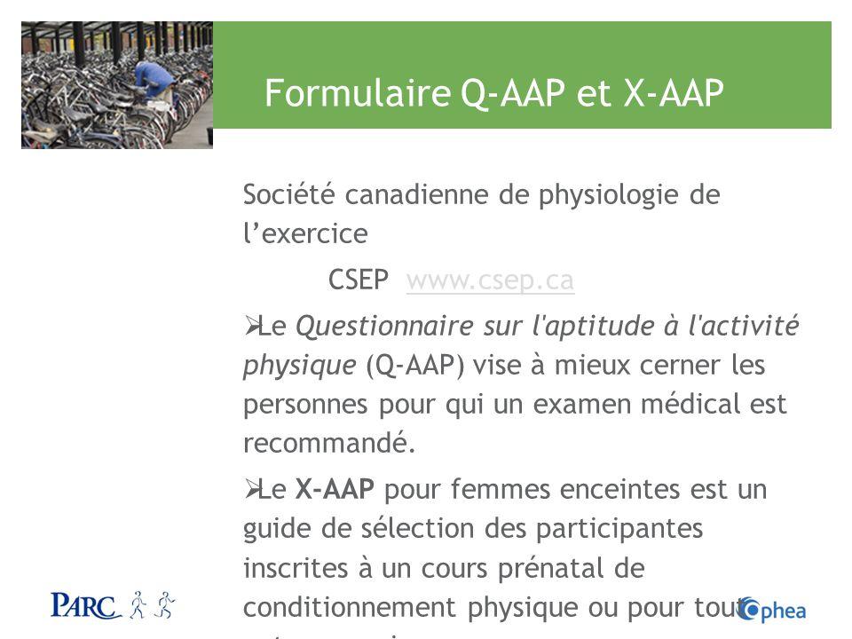Formulaire Q-AAP et X-AAP