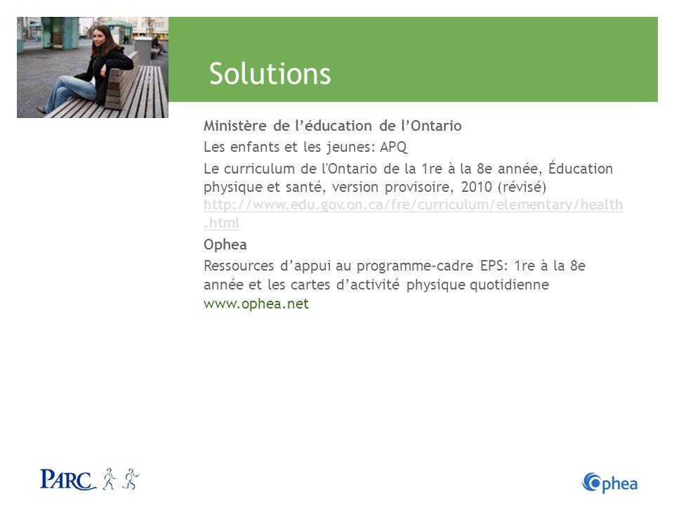 Solutions Ministère de l'éducation de l'Ontario