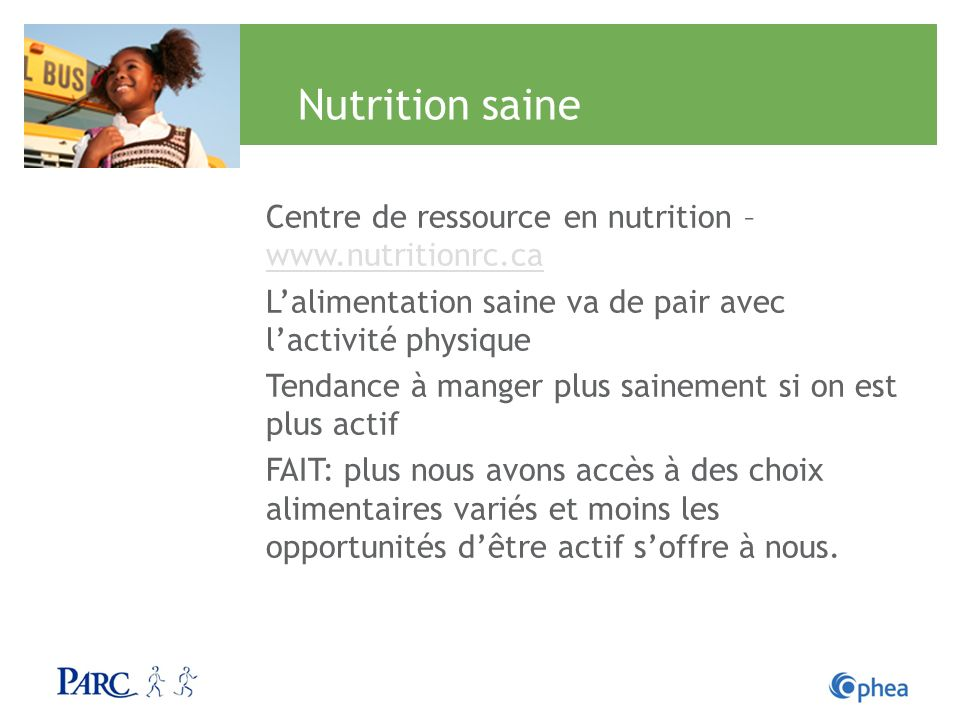 Nutrition saine Centre de ressource en nutrition – www.nutritionrc.ca