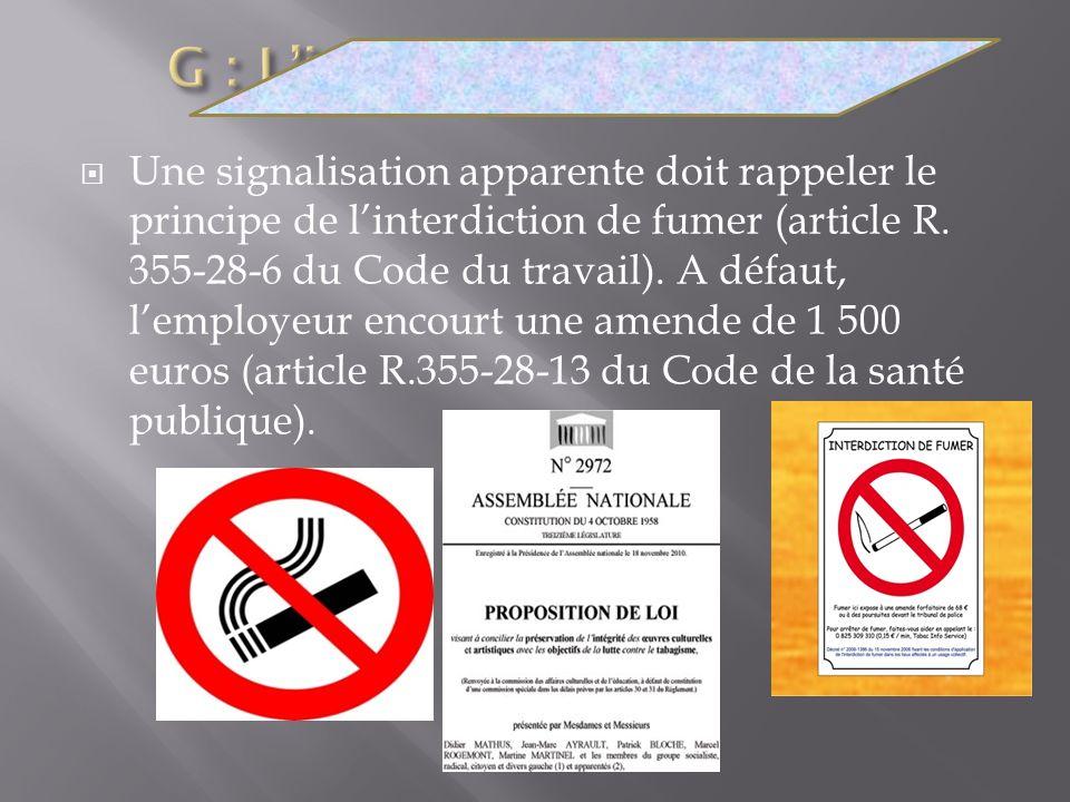 G : L'interdiction de fumer