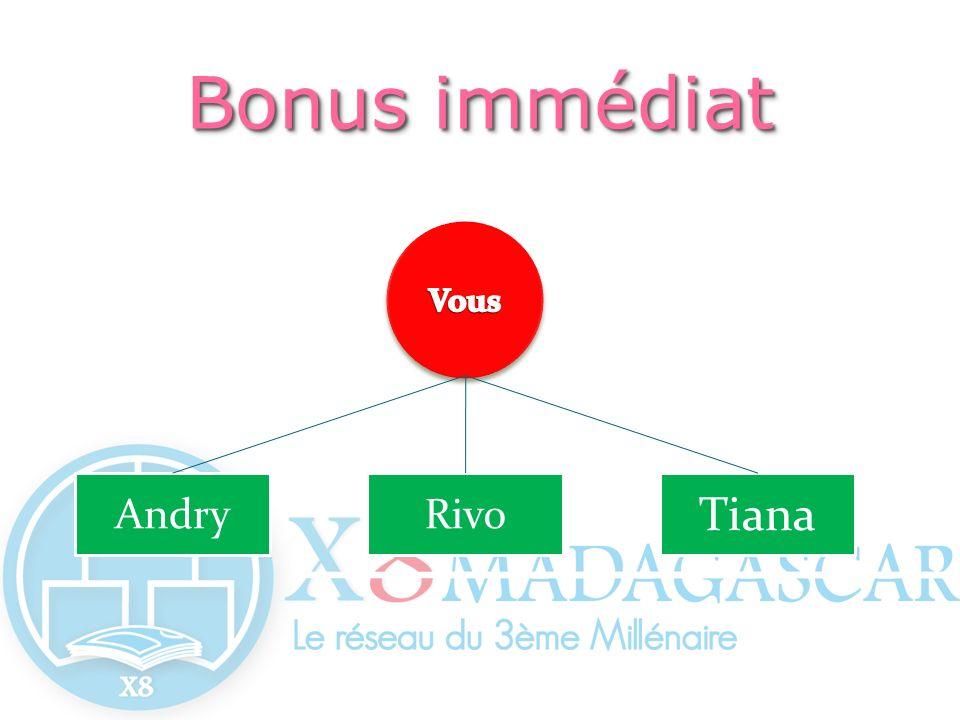 Bonus immédiat Vous Andry Rivo Tiana
