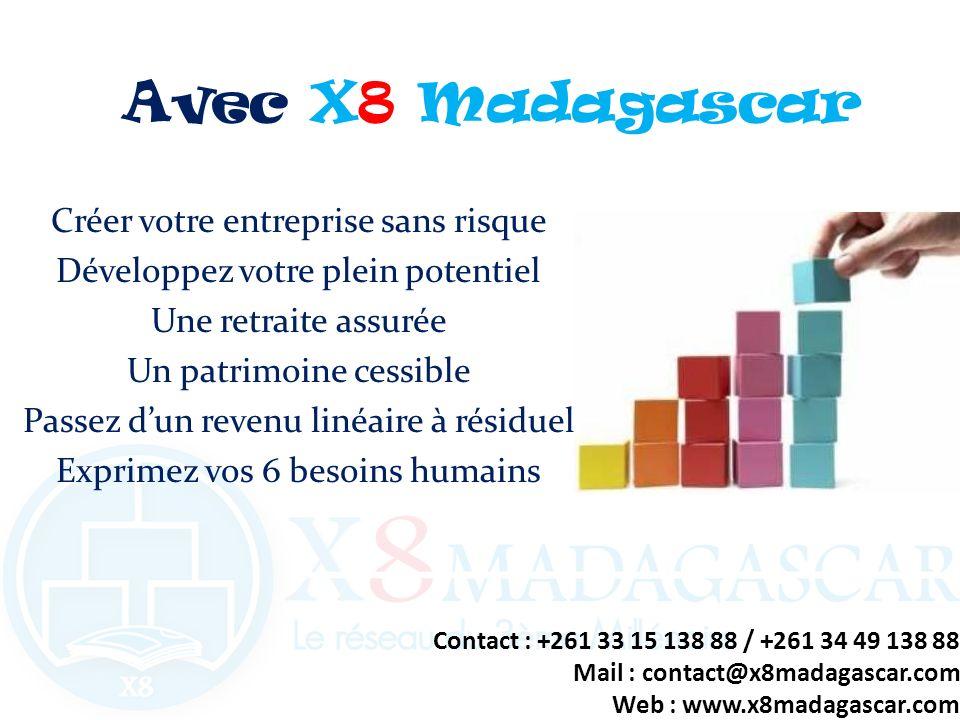 Avec X8 Madagascar