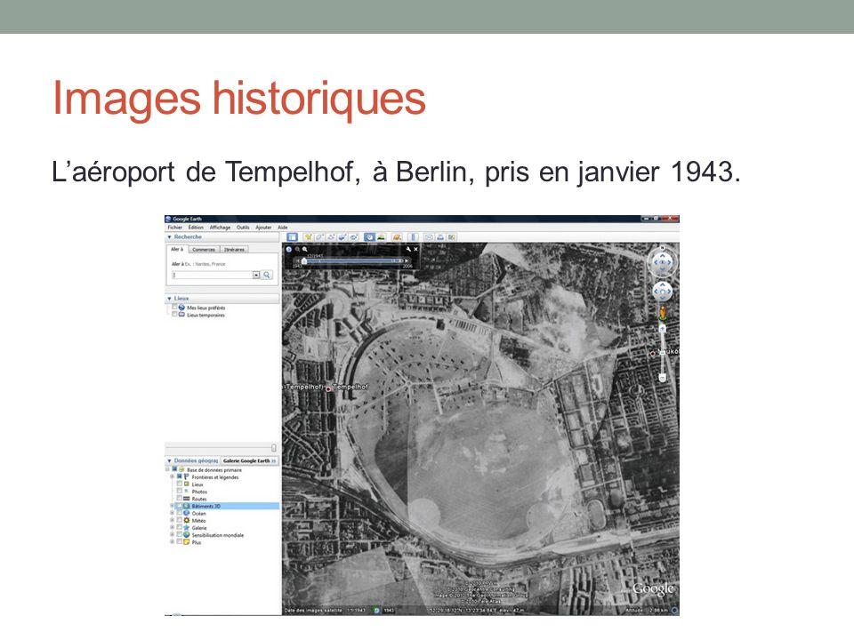 Images historiques L'aéroport de Tempelhof, à Berlin, pris en janvier 1943.